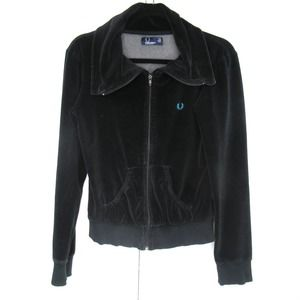 Fred Perry Velour Track Jacket High Neck
